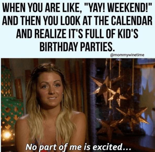 kids weekend meme