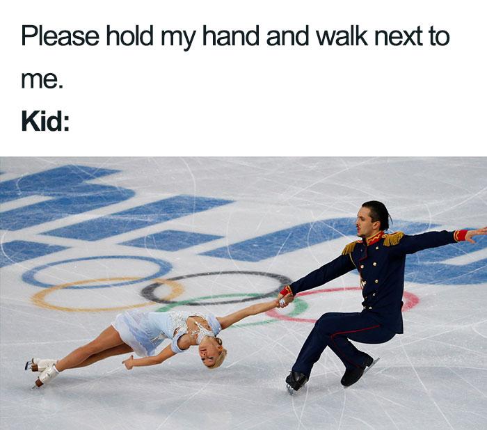 mom meme kids walking