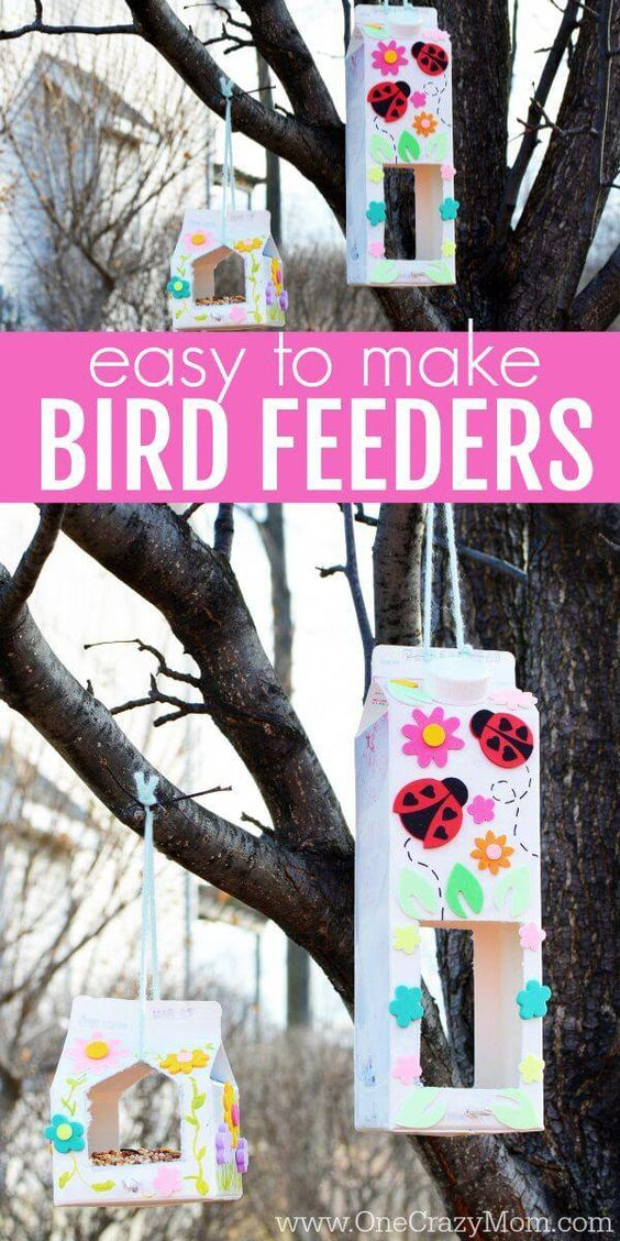 DIY craft birdfeeder