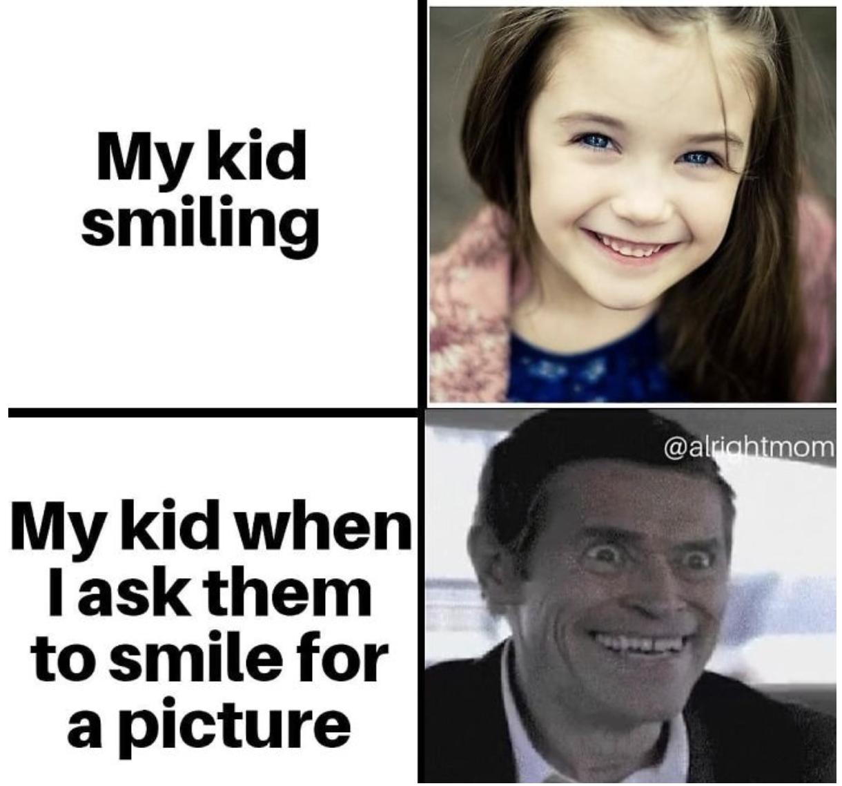 kid smile meme
