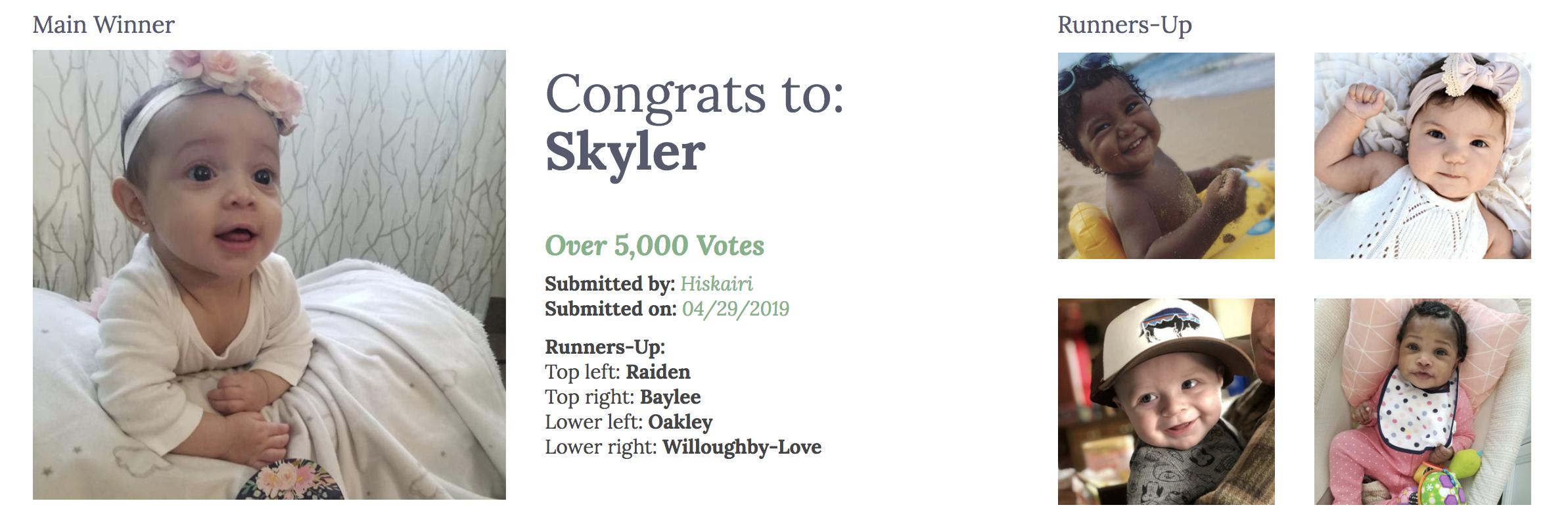 April 2019 people's choice winners