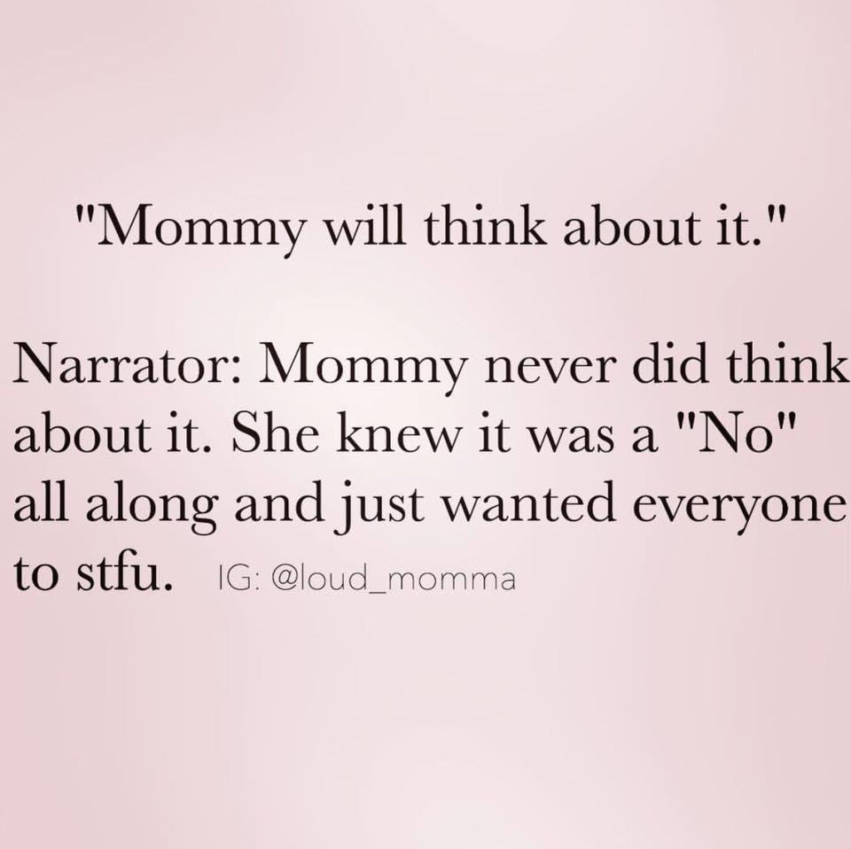 mommy lies meme