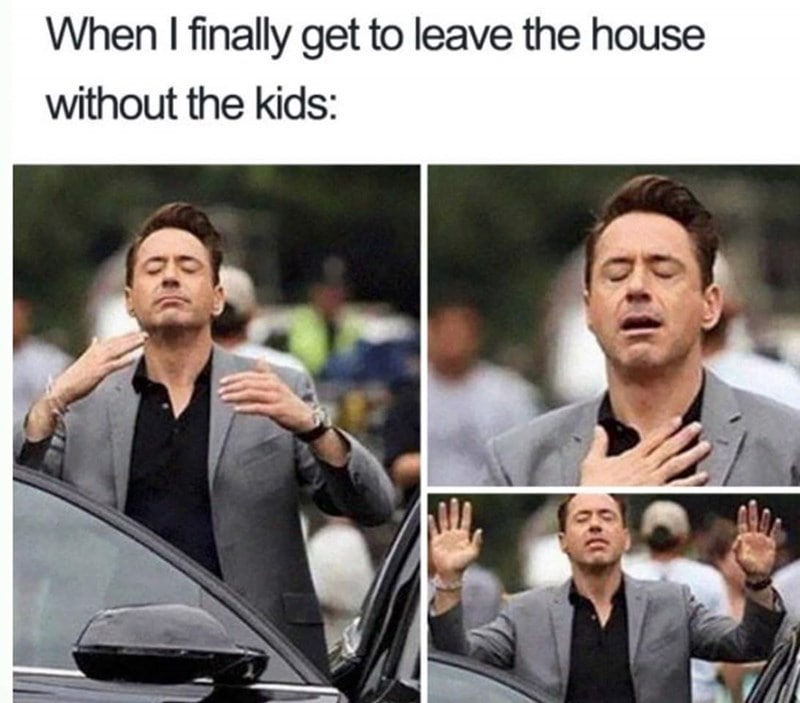 leaving home without the kids meme