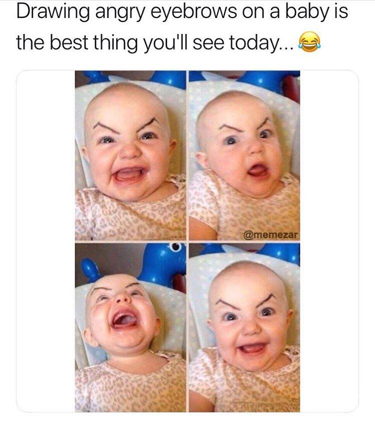 baby eyebrows meme