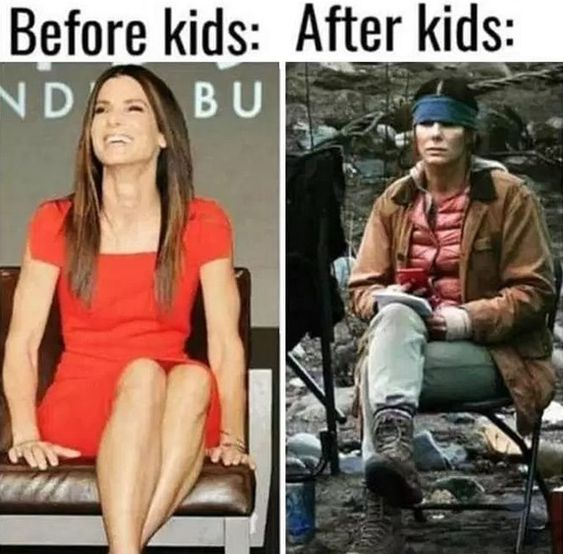 mommy meme before and after kids